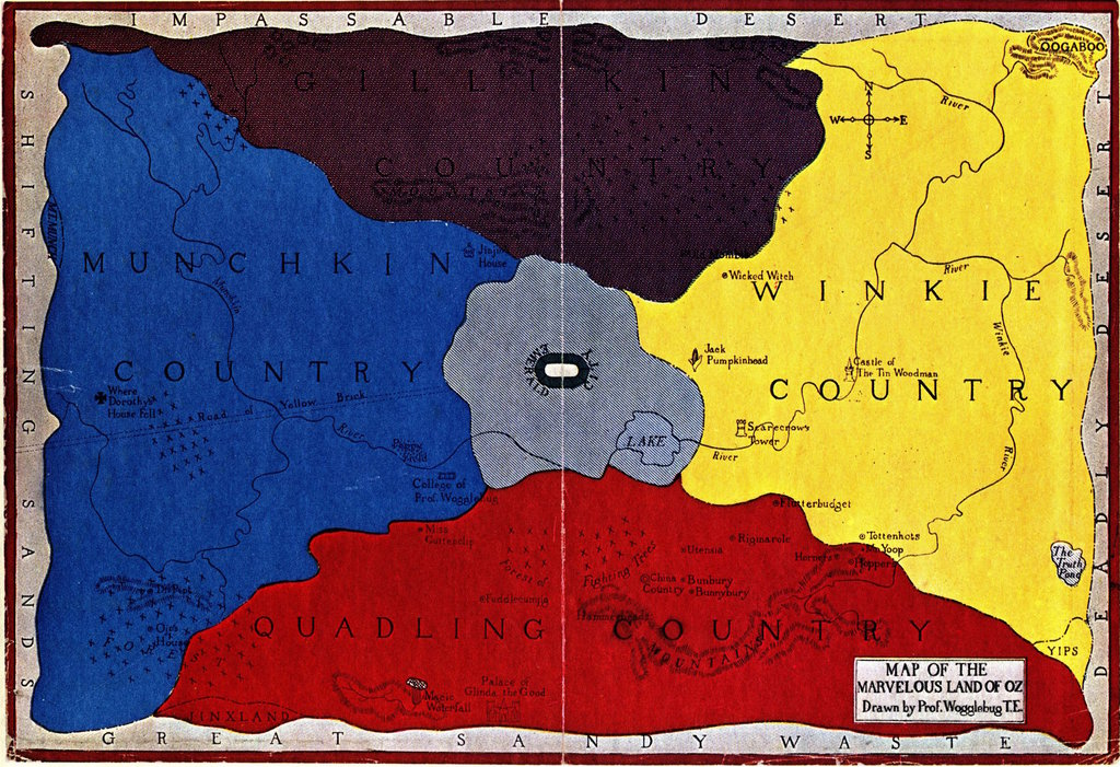 As rectangular as kansas the land of oz big think oz is an imaginary magical monarchy first introduced in l frank baums book the wonderful wizard of oz 1900 in all baum wrote 14 childrens books gumiabroncs Image collections