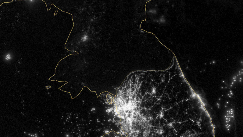 Koreas Political Divide As Seen By Satellite Big Think - Latest satellite view