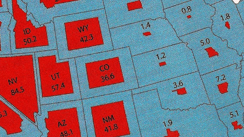 Just How Much Land Does The Federal Government Own And Why - Map of us with west undeleoped