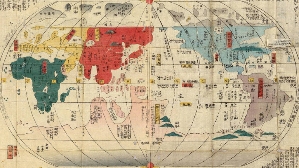Isolated japan maps the forbidden outside world big think sciox Gallery