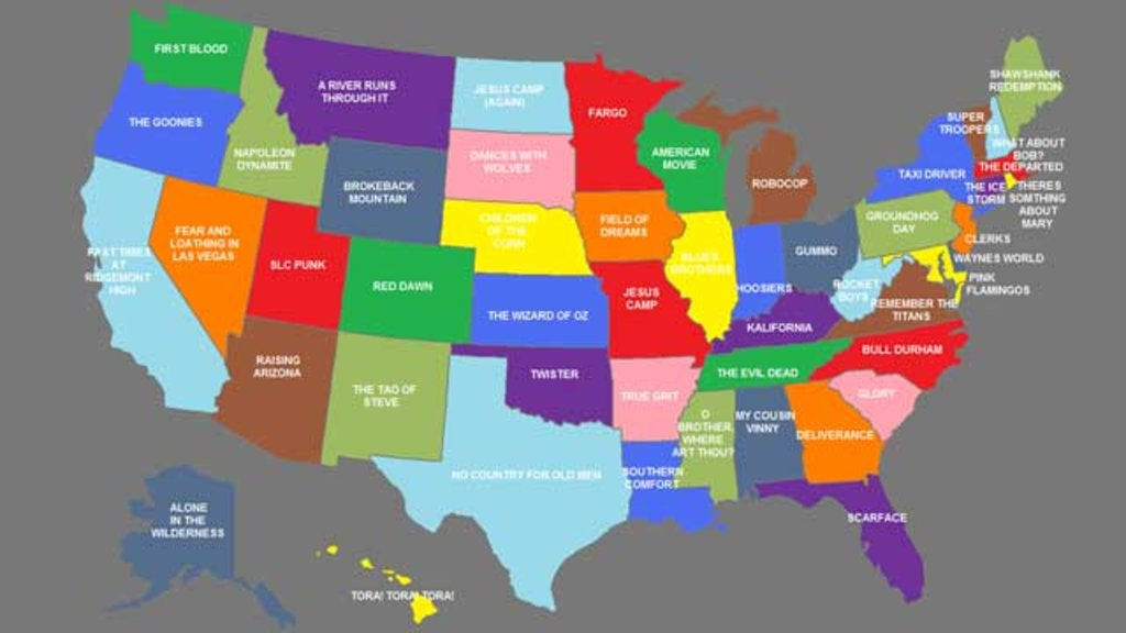 A Map Of State Movies Big Think - Map of the united states with names