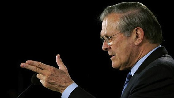 an analysis of donald rumsfeld as secretary of defense A painting of former secretary of defense donald rumsfeld was recently unveiled at the pentagon and it carried an astounding price tag of nearly $50,000 the portrait of rumseld, which the former.