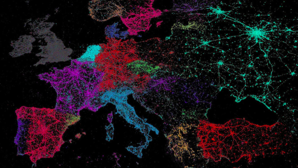 Vive Le Tweet A Map Of Twitters Languages Big Think - Satellite map of the world at night