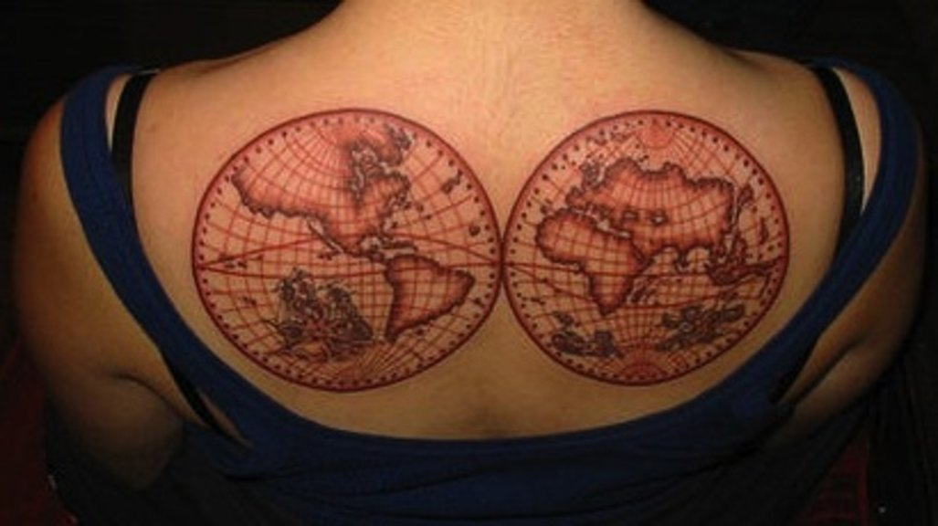 556 the world on your shoulders map tattoos big think im still not sure what pinterest is for 1 but scrolling a recommended collection of maps on the site i couldnt help but notice that the number of gumiabroncs Gallery