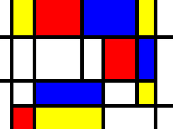 Piet Mondrian Werke your brain looks like a mondrian grid painting big think