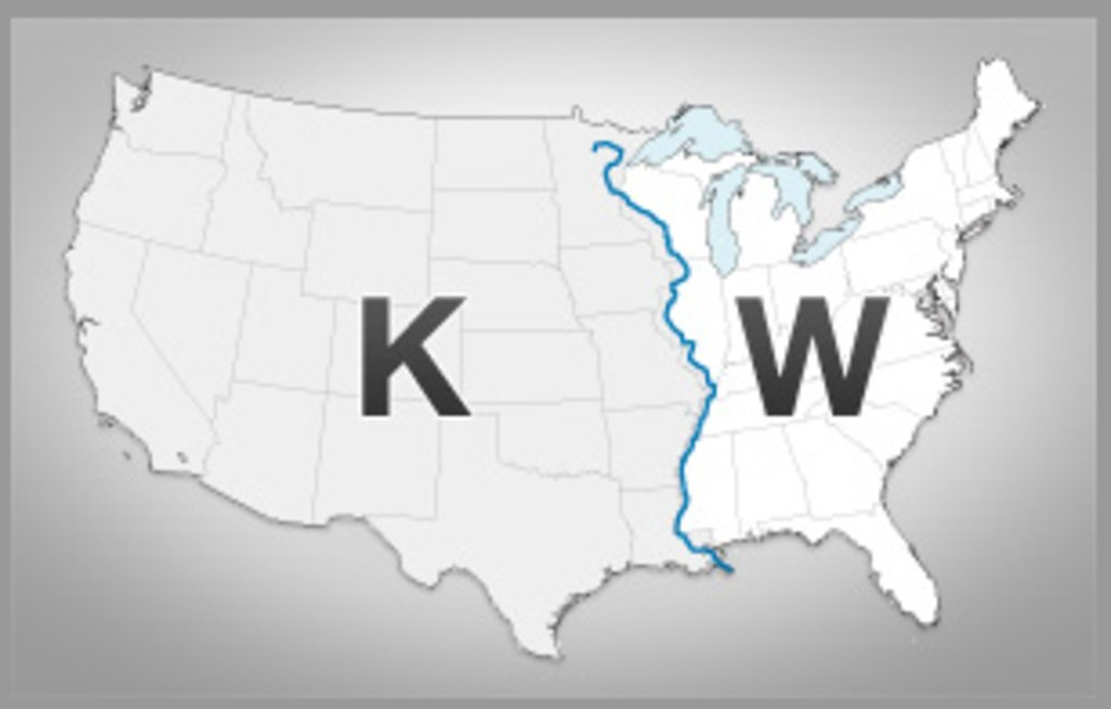 The Why And Where Of US Radios K And W Call Signs Big Think - Us call sign map