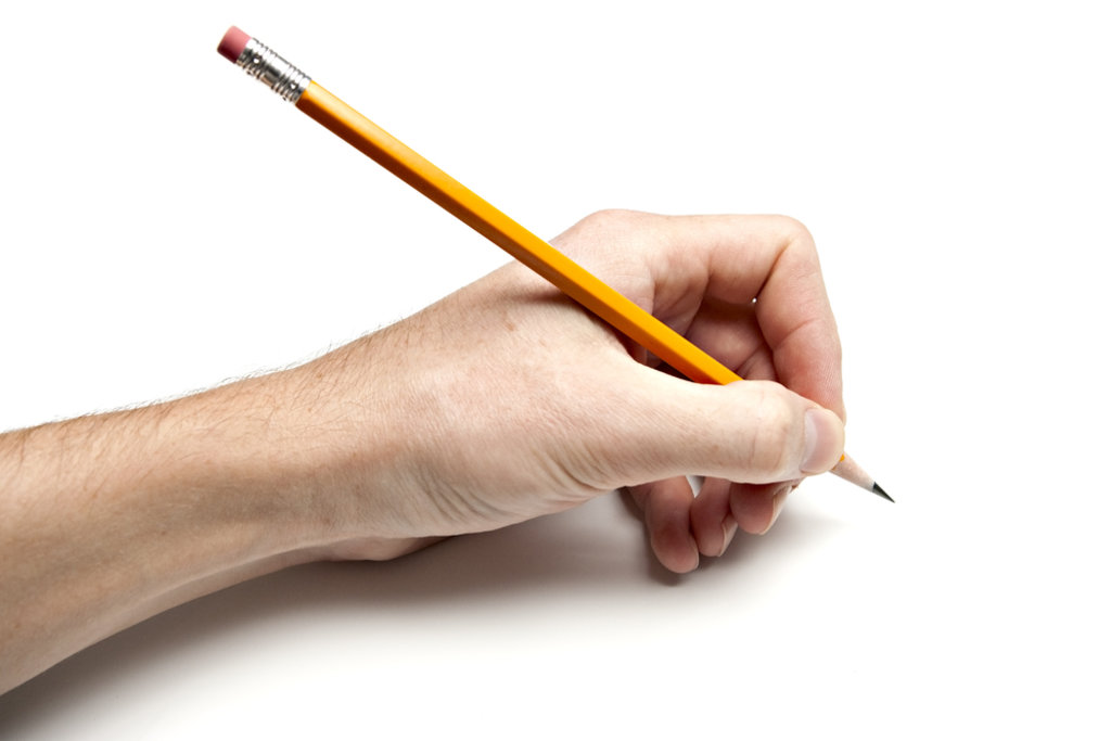Image result for holding pencil for left hander