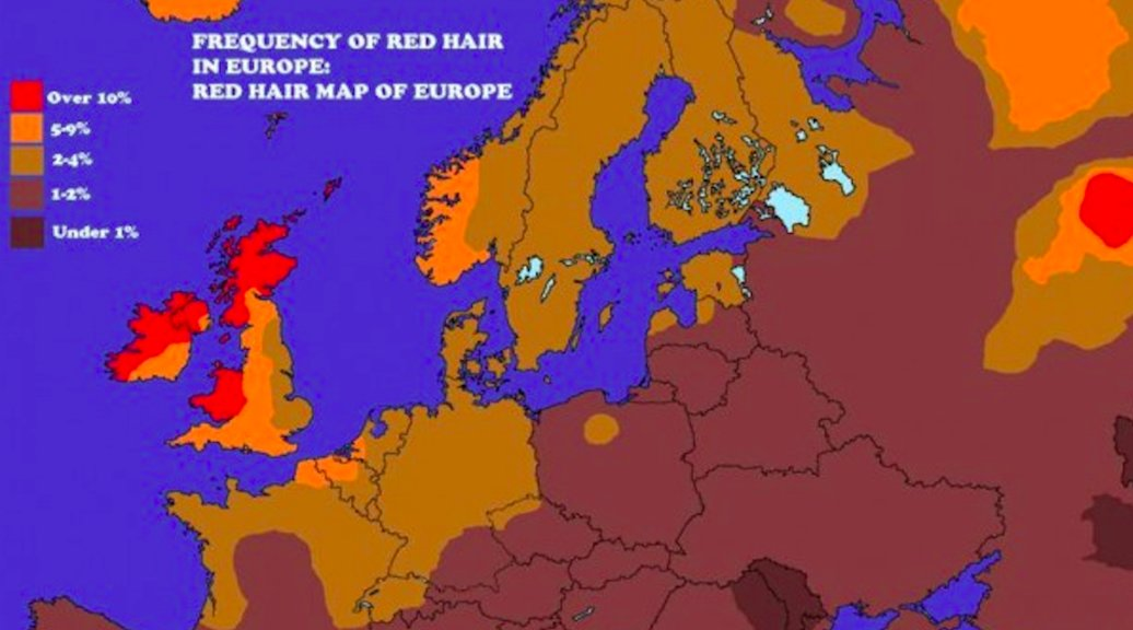 Three Possible Locations For A Redhead Homeland Big Think - Map of redheads in the us