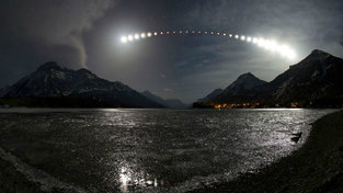 Waterton Lake Eclipse