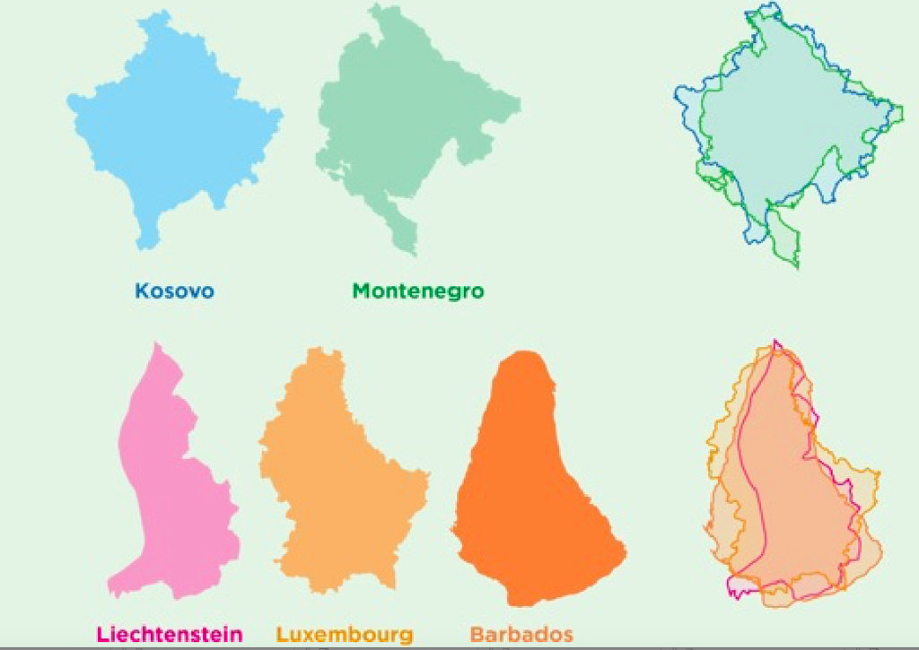 Maps Of Countries That Look Like Other Countries Big Think - Montenegro maps with countries