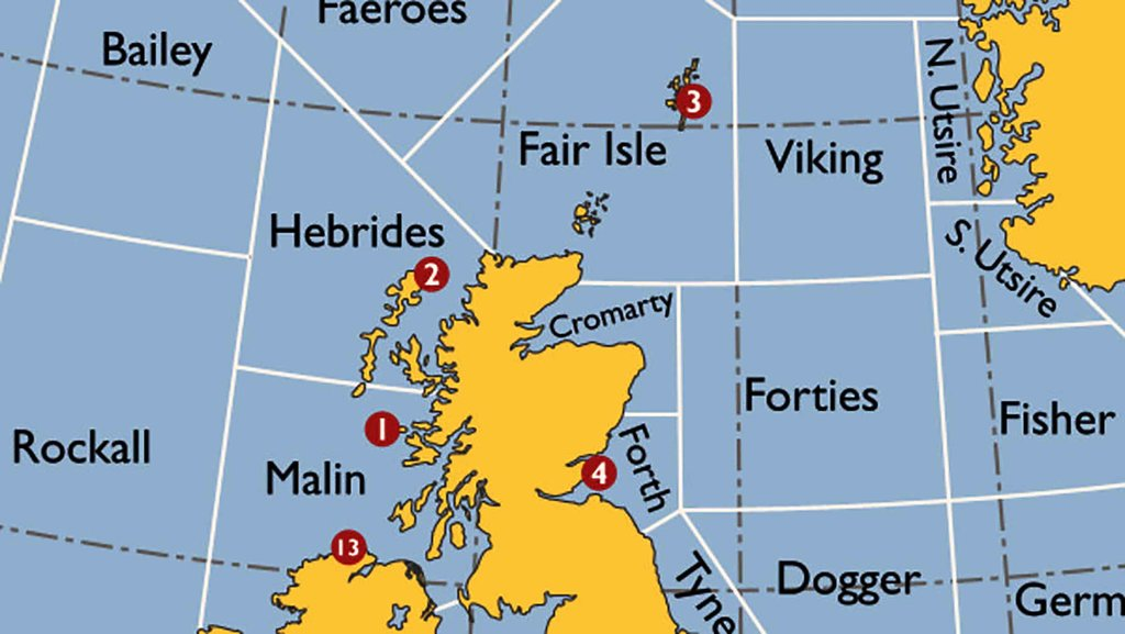 The Shipping Forecast: a Map of Britain's Splendid Isolation | Big ...