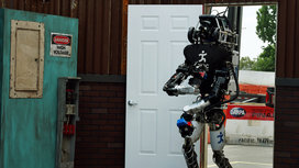 Robot-walking-through-door