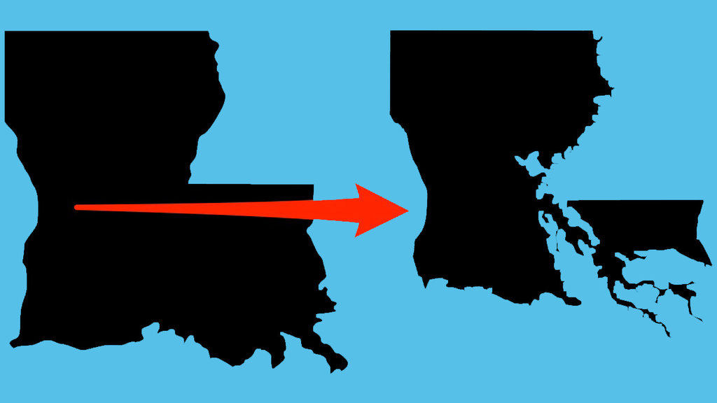 Louisianas State Map Is Changing Due to Flooding and Climate Change