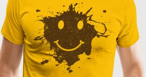 Mud-smiley-face-tee-men-s-premium-t-shirt