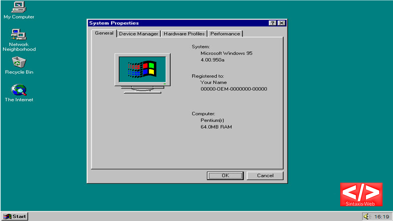 You can now install Windows 95 on Windows, Linux and Mac