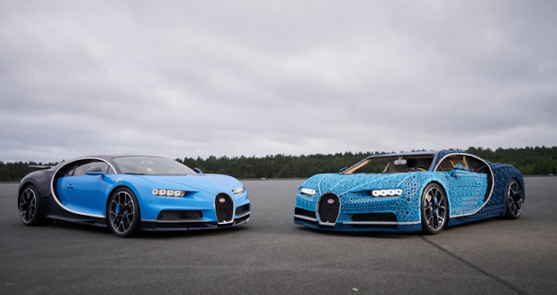 Driving a working LEGO Technic Bugatti Chiron