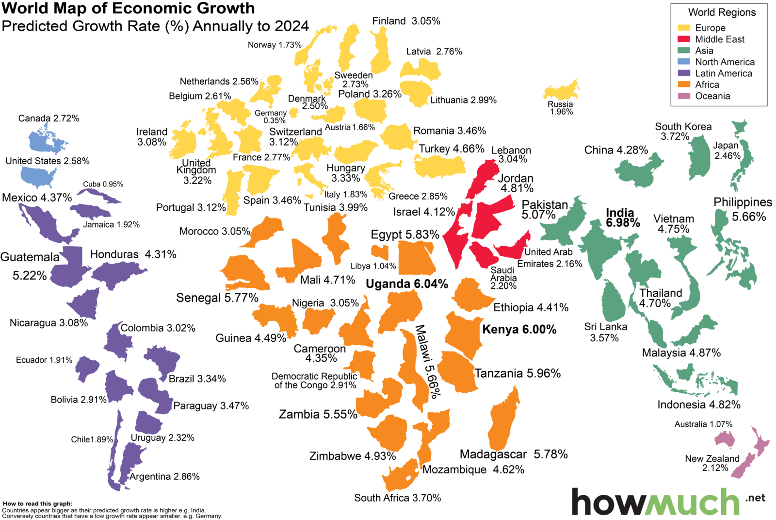 World economic growth through 2024 a country by country map big think how the world economy will grow through 2024 country by country gumiabroncs Gallery