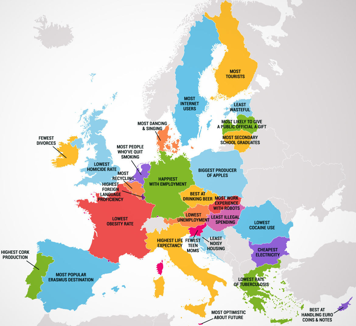 Four Maps Show States And European Countries Best And Worst - Europe us map