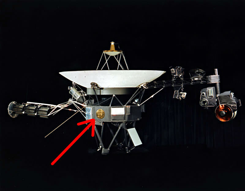 Record location on Voyager spacecraft