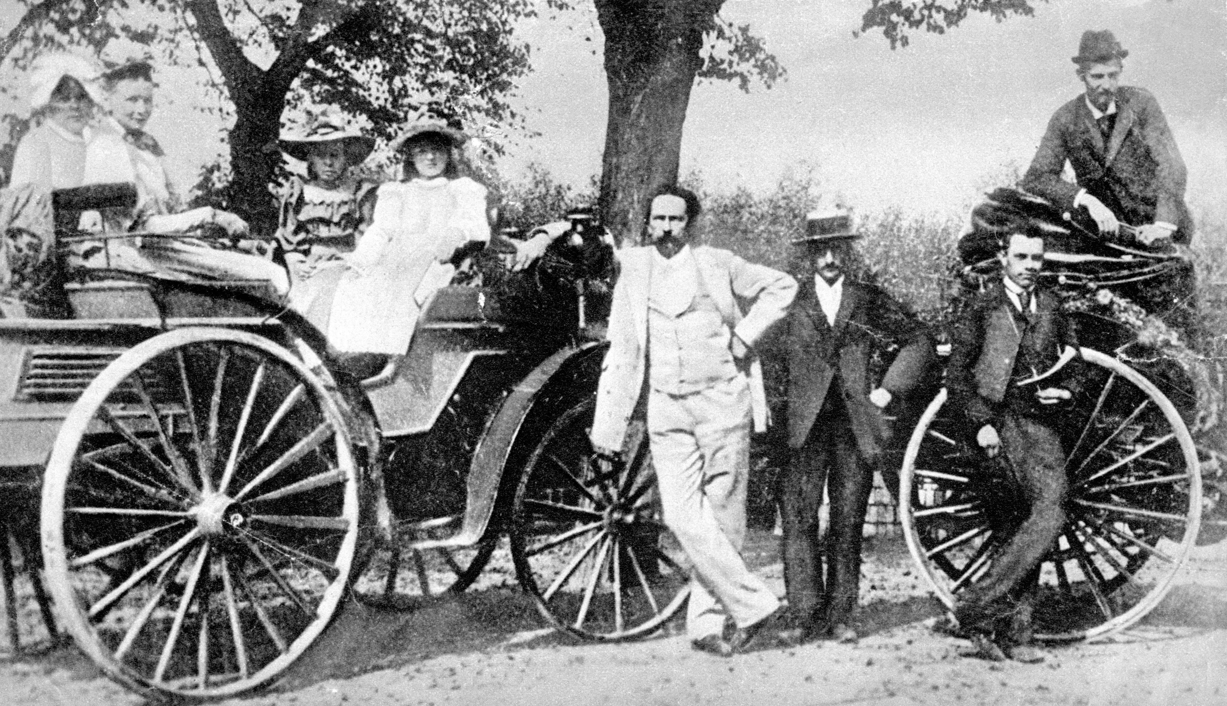 Karl Benz and family