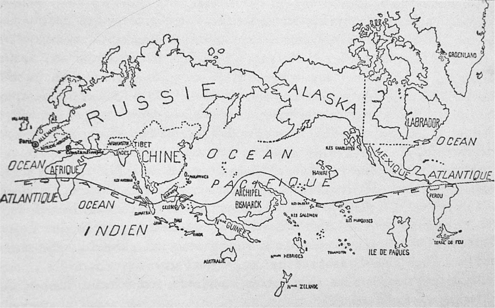 The Surrealist Map of the World 1929  Big Think