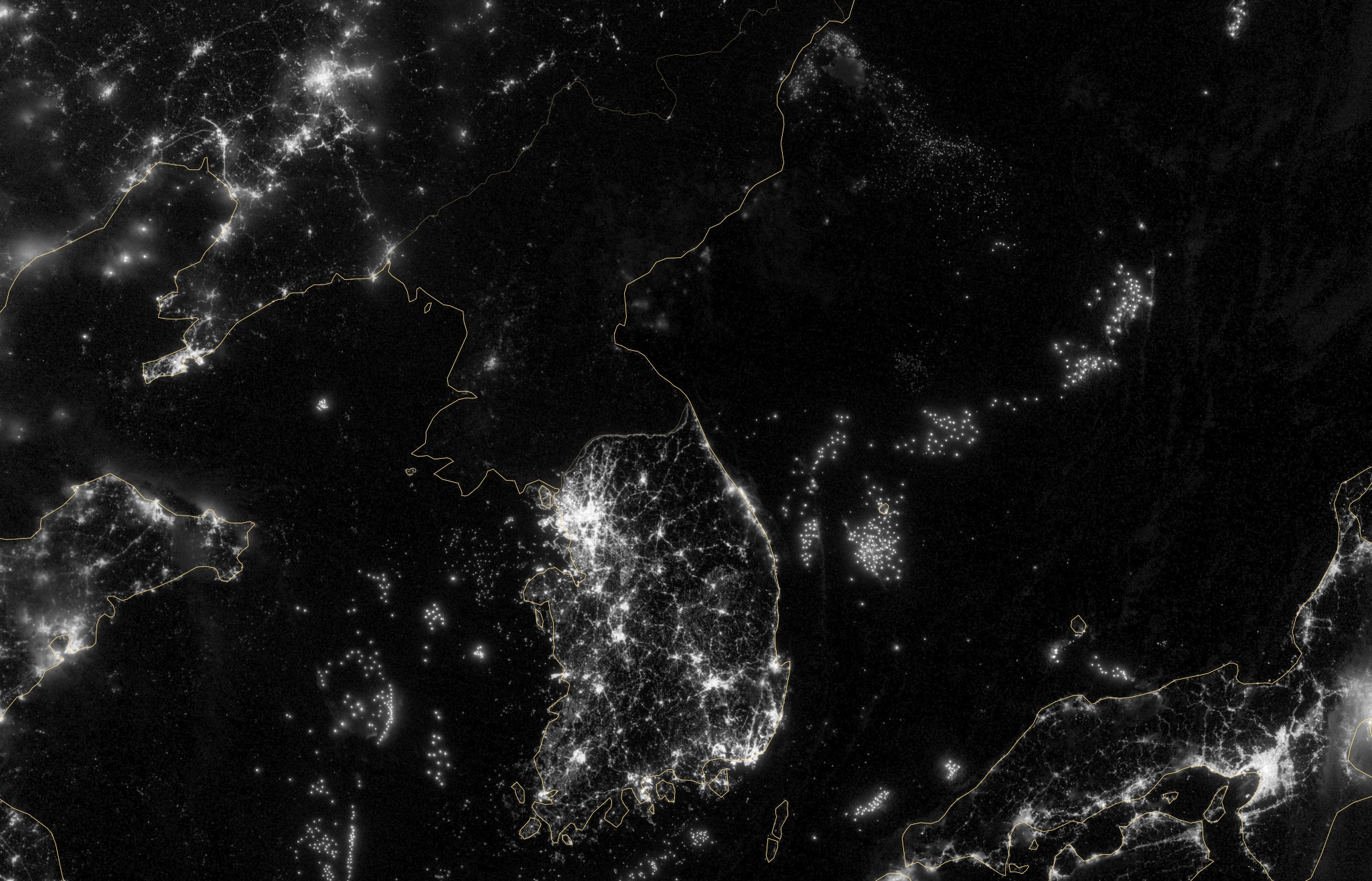 Koreas Political Divide as Seen by Satellite  Big Think