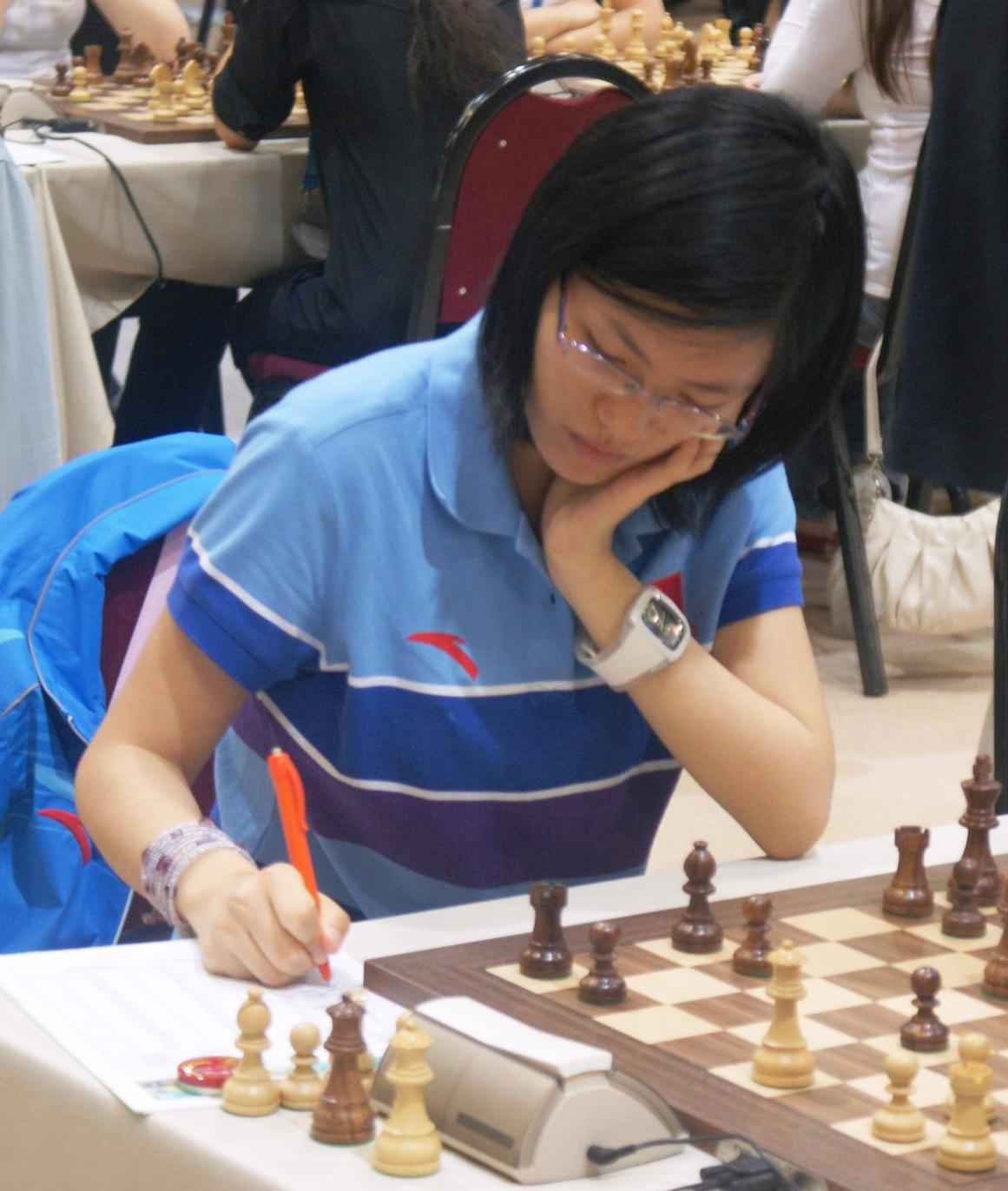 Hou Yifan at a chess olympiad in Istanbul, 2012.