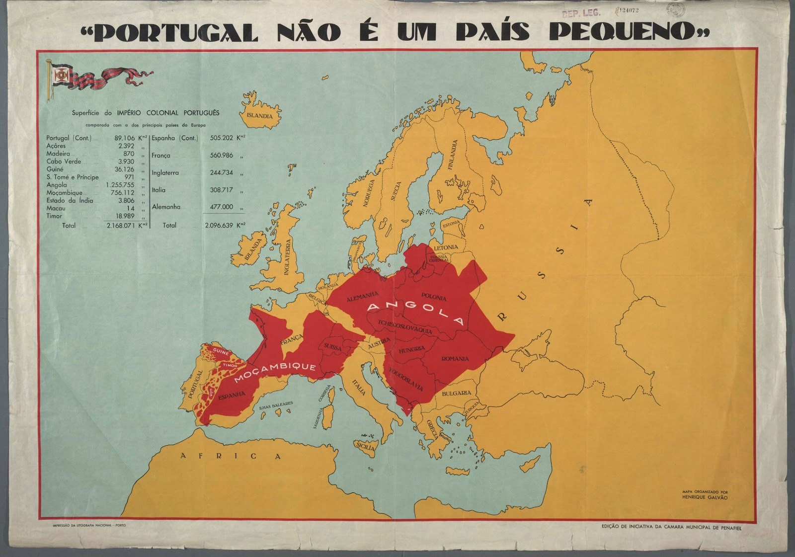 Map Proves That Portugal Is Not A Small Country Big Think - Portugal historical map