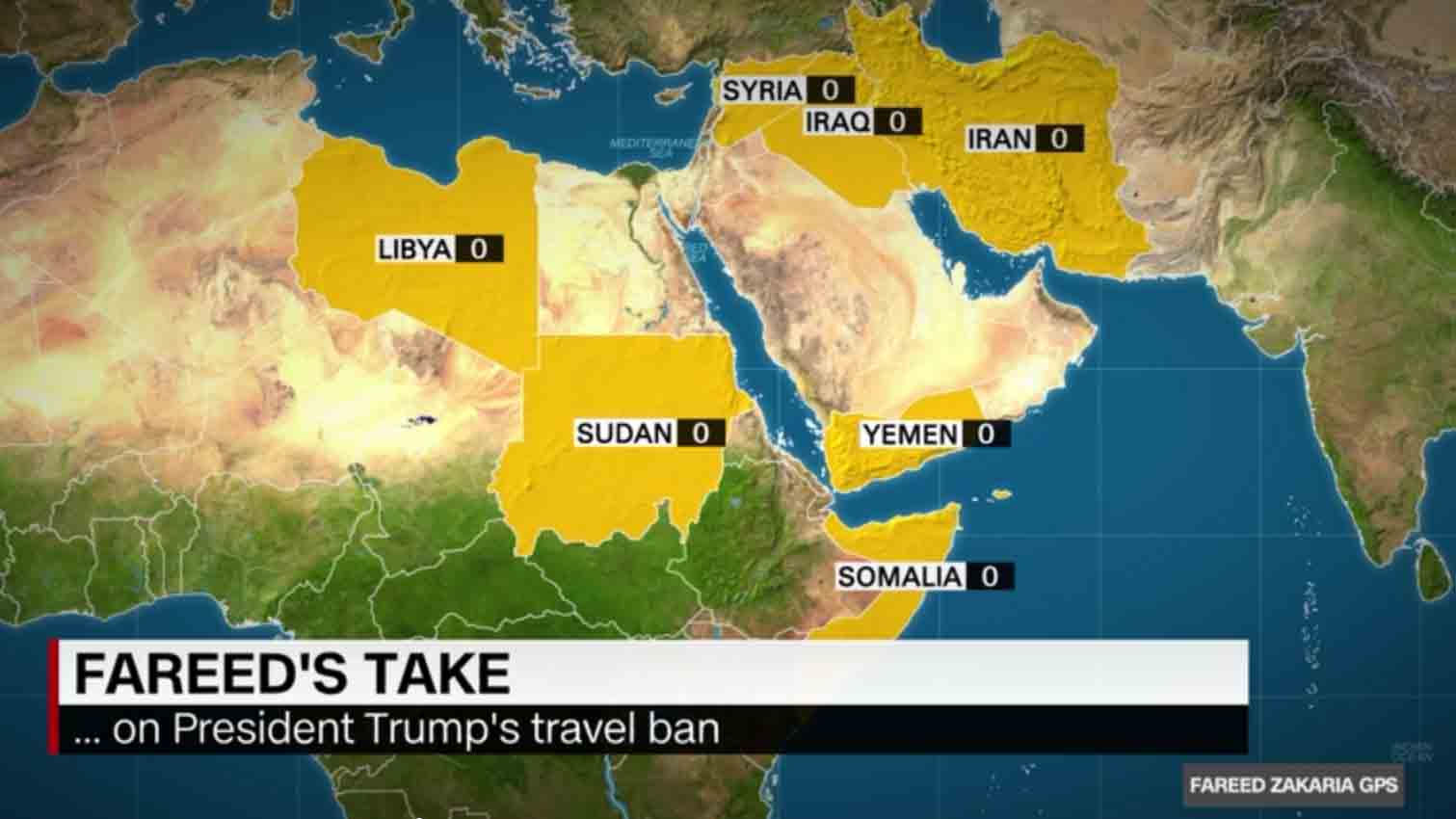 Trump\'s Muslim Ban - mapping the countries and the numbers
