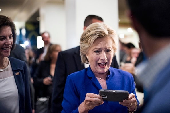 Hillary Clinton With Mobile Phone