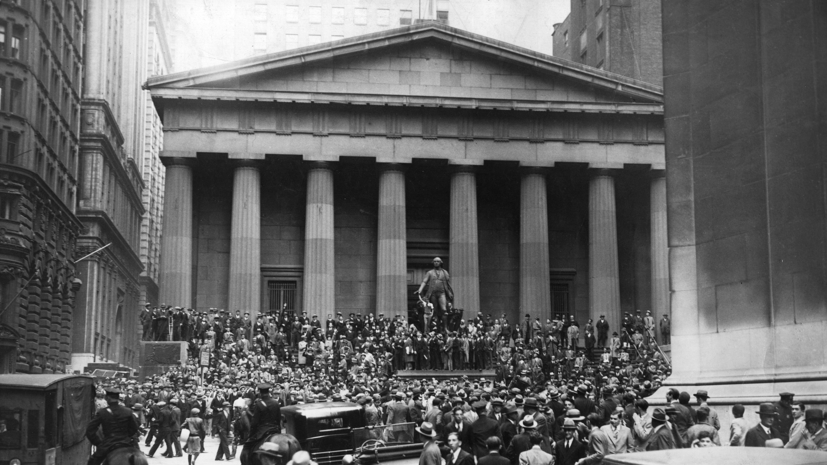 For much of American history (the period 1790-1970), Wall Street's capital funded business investment in the real economy (Photo from Hulton Archive/Getty Images, 1929)