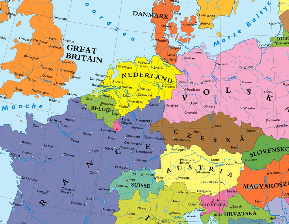 A Map Of Europe Without Germany Big Think - Germany map in world map