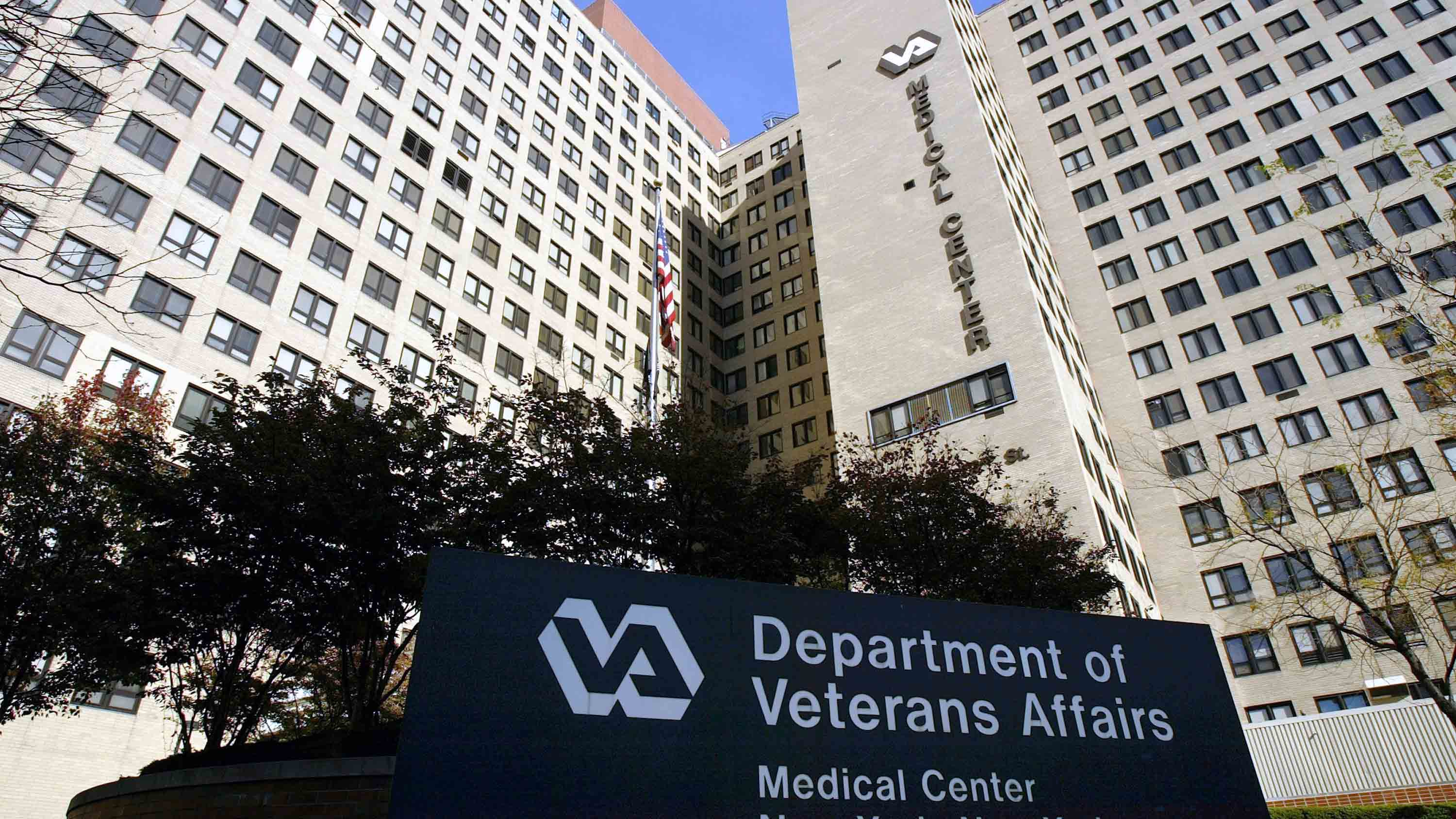 The exterior of the Veterans Affairs Hospital is seen in New York City. (Photo by Spencer Platt/Getty Images)