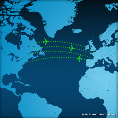 north atlantic flight paths