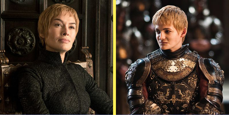Cersei and Joffrey have eerily similar haircuts.