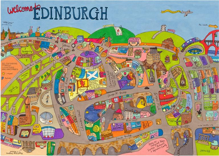Edinburgh Now in Technicolor – Edinburgh Tourist Map