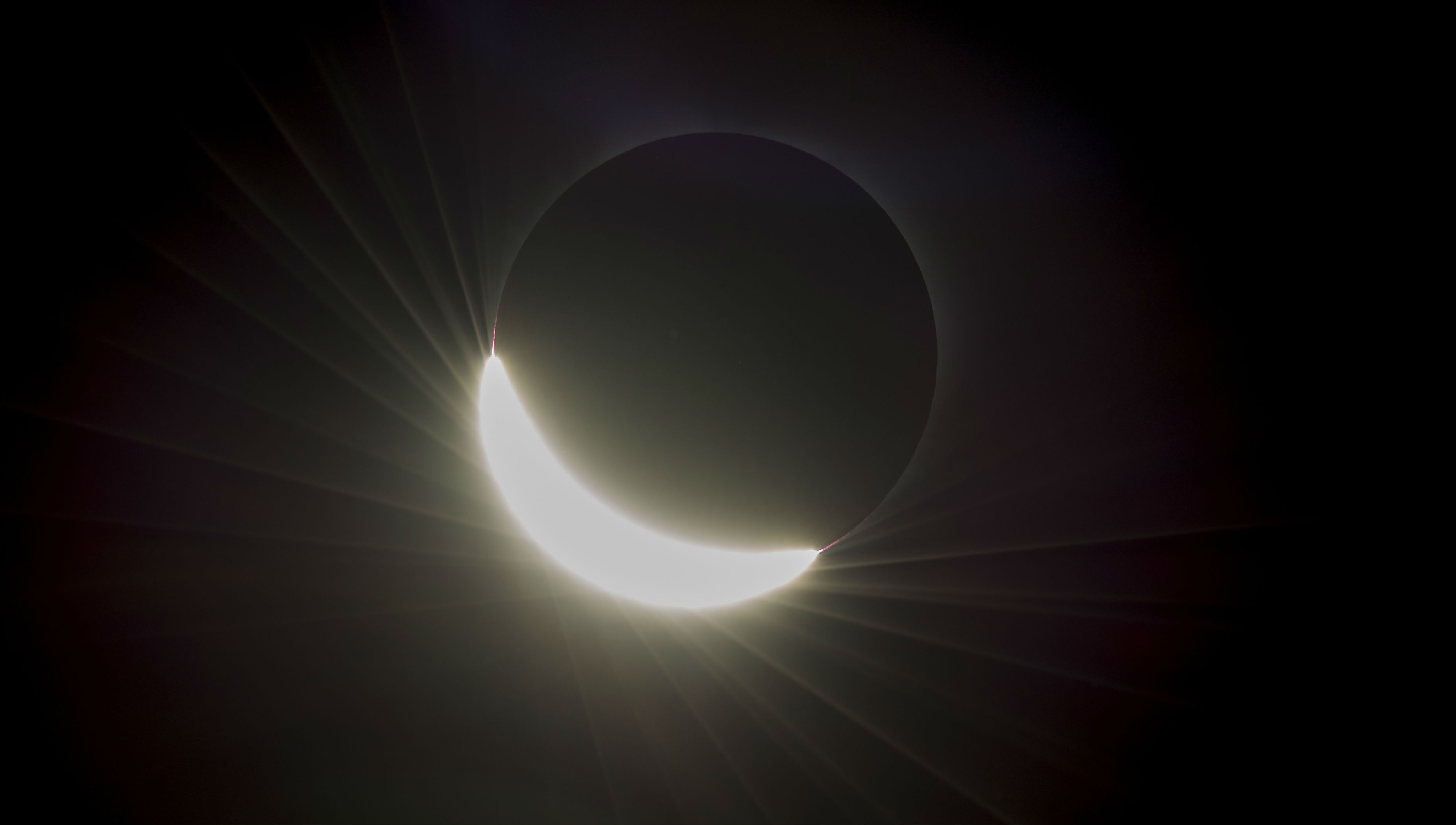 The sun eclipsed by the moon